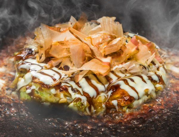 Japanese Traditional Pizza Okonomiyaki